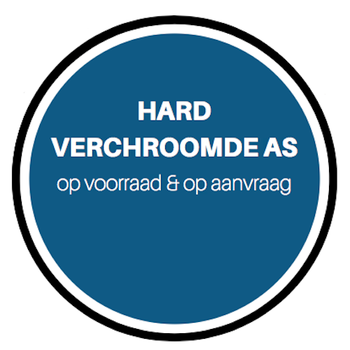 Hard verchroomde as