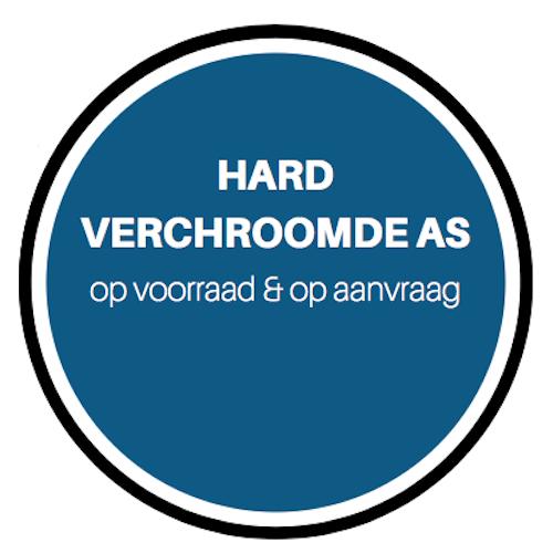 Hard verchroomde as