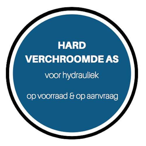 Hardverchroomde as voor hydrauliek